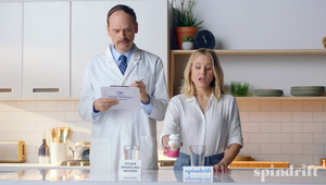 "Spindrift Sparkling Water, ""Kristen Bell Schools A Scientist on the Real Raspberry & Lime Recipe for Spindrift"""