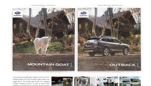 Subaru GOOAT Brochure Boards