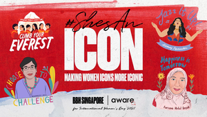 AWARE 'ShesAnIcon' - IWD Cover Image