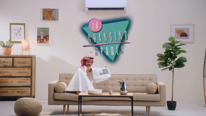 LG presents 'Changing Spaces'.